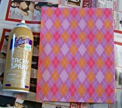 I used tacky spray adhesive and a generic kind, and they both seemed to work well.