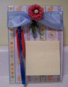 One I made for my mom--this is taken months after I made it, and the pen pal got moved a little.