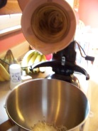 I use my stand mixer to shred the vegetables.