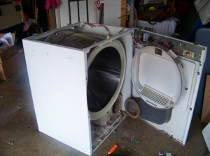 Our poor dryer has hit the dust!