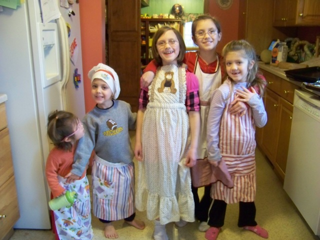 """In their aprons ready to """"cook"""""""