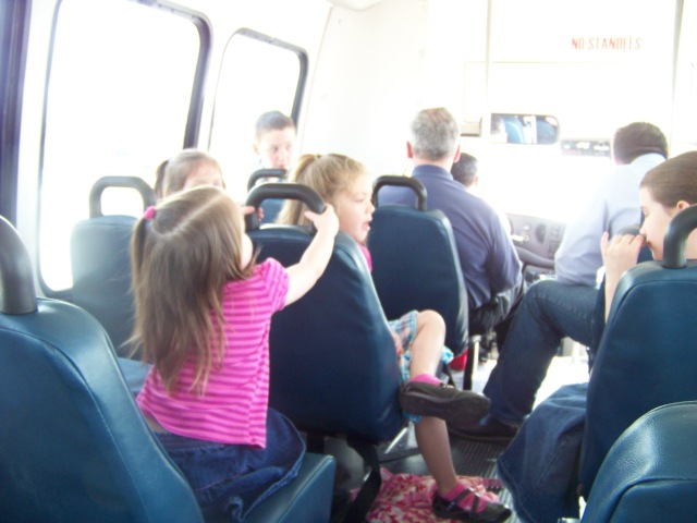 On the bus going to get them!