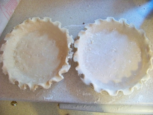 Two of the pie crusts I made