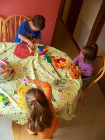 Fun with play-doh!