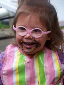 Kiley enjoying dessert!